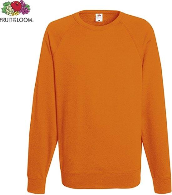 18d4c206233 Fruit of the Loom sweater - ronde hals - maat M - heren - Kleur Orange