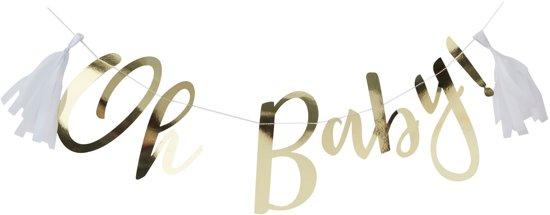 Ginger Ray Oh Baby! slinger voor babyshower - goud - 1,50 meter Valentinaa