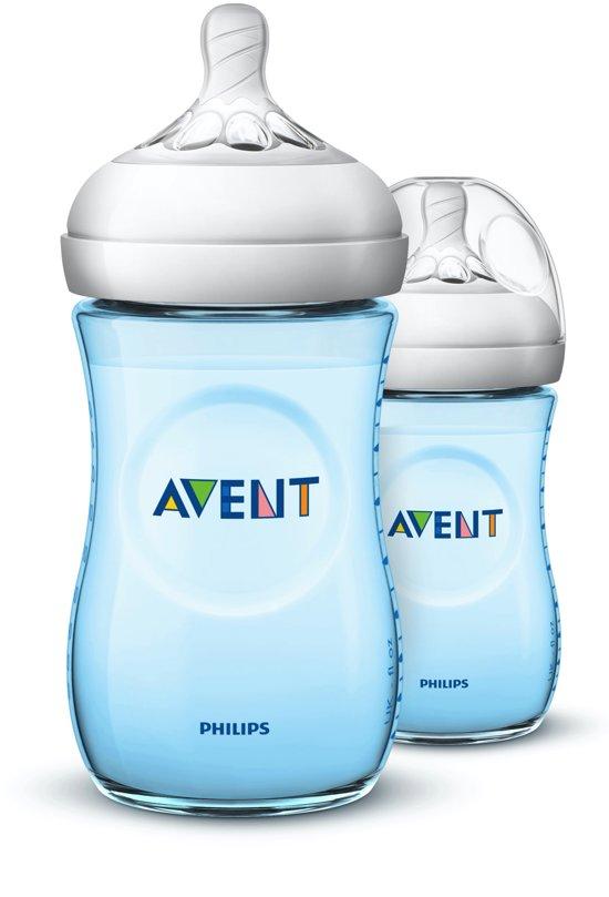 Philips Avent Natural babyfles - SCF035/27 babyfles (1m+) voor langzame toevoer - 2x