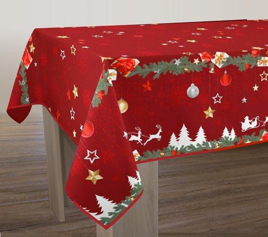 Tafelkleed anti-vlek Noël rouge 200 x 150 cm