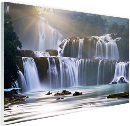 Ban Gioc waterval Glas 30x20 cm - Foto print op Glas (Plexiglas wanddecoratie)