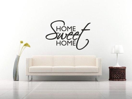 Muursticker Home Sweet Home.Muursticker Home Sweet Home 58x88 Zwart