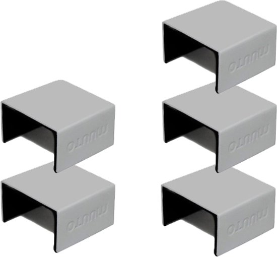 muuto stacked boekenkast grijs aluminium