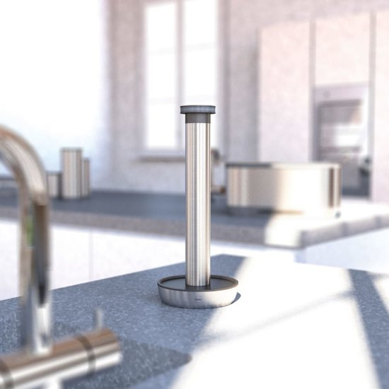 Hailo KitchenLine Design Keukenrolhouder zilver 0833-900