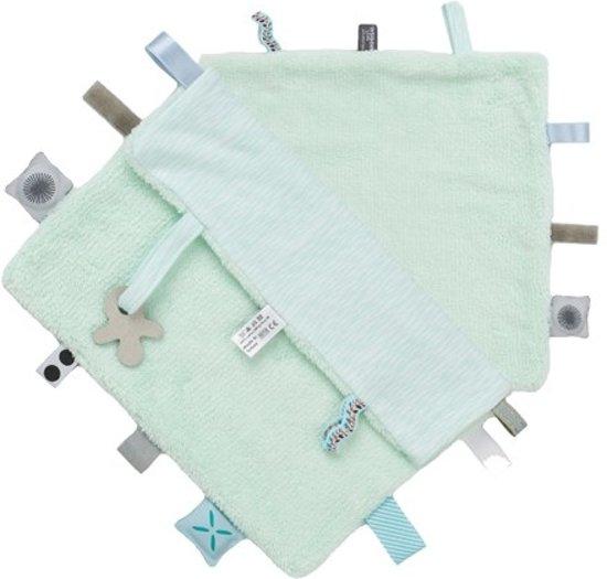 Snoozebaby - knuffeldoekje Comfort Toy - Misty Green - 25x25cm