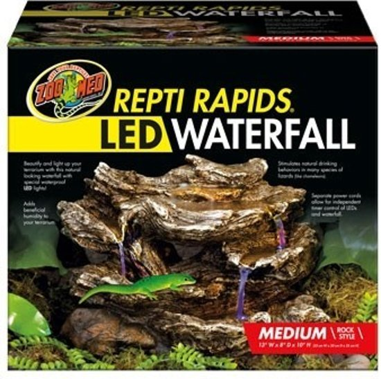ZM Repti Rapids LED Waterfall Rock Medium