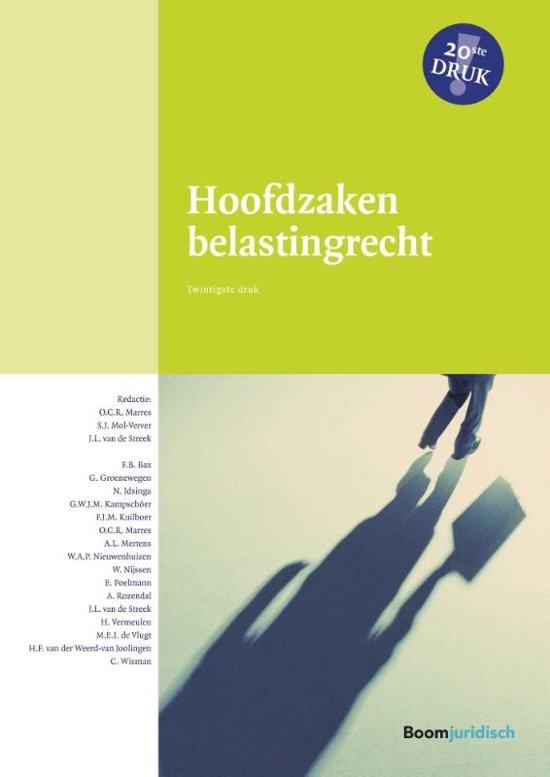 Boom fiscale studieboeken - Hoofdzaken belastingrecht - Boom Juridische uitgevers