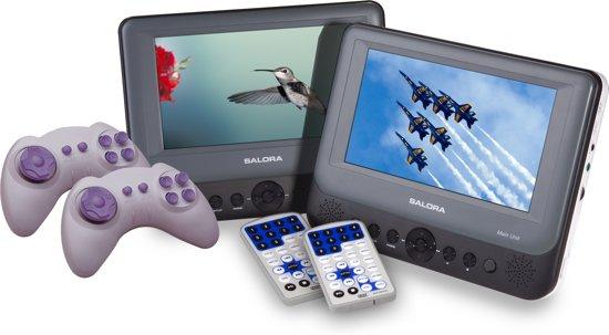 Salora DVP-7748 DUO - Portable DVD-speler - 2 DVD-spelers - 7 inch