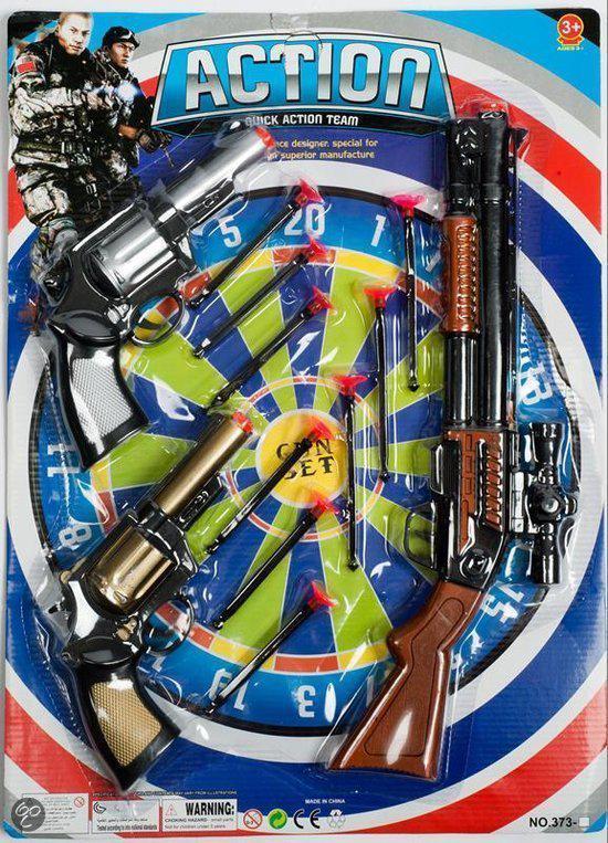 speelgoed geweer met pijltjes