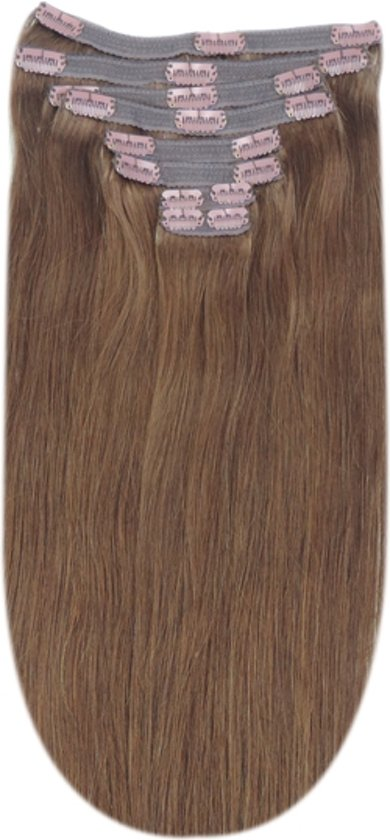 Remy Human Hair extensions Double Weft straight 20 - bruin 5#