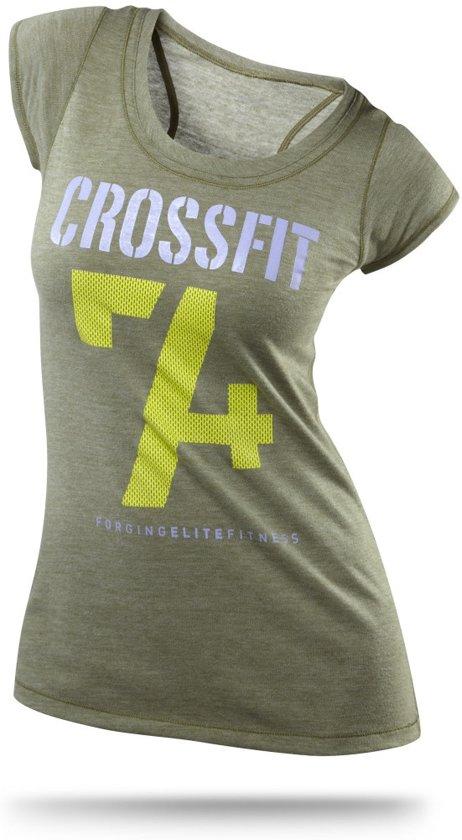 5ffa1c68059 bol.com | Reebok Crossfit Dames T-shirt Groen Maat Xl