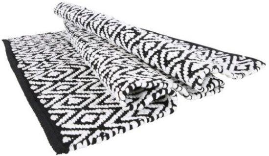Kleed in Wit met Zwart