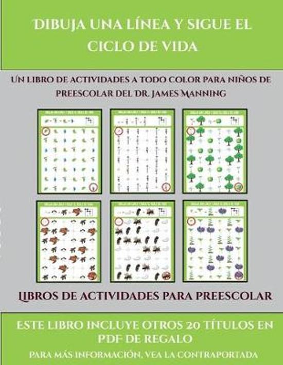Libros De Actividades Para Preescolar (Dibuja Una Linea Y Sigue El Ciclo De Vida)