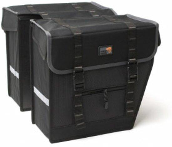 New Looxs Superior Maxi Dubbele Fietstas - 42 l - Black