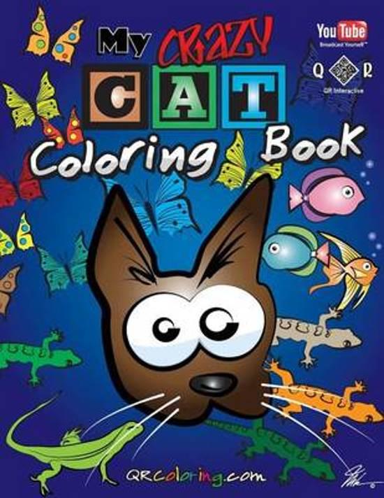 Boek cover My Crazy Cat Coloring Book van Mike Browne (Paperback)