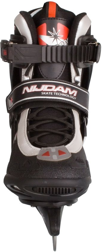 Nijdam 3353 Ijshockeyschaats - Semi-Softboot - Zwart - Maat 43
