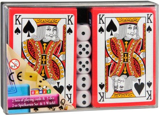 Afbeelding van het spel Amigo Speelkaarten Met Dobbelstenen 7-delig