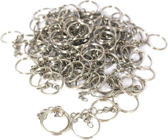 Sleutelring / sleutelhanger ringen - 25 mm - 100 stuks