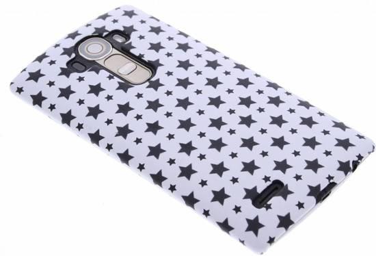Design Blanc Étoiles, Étui Rigide Pour Lg G3