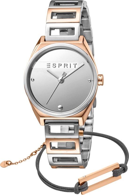 ab958e9263d Esprit Slice Mini ES1L058M0055 horloge - Staal - Zilver en rosékleurig - Ø  30