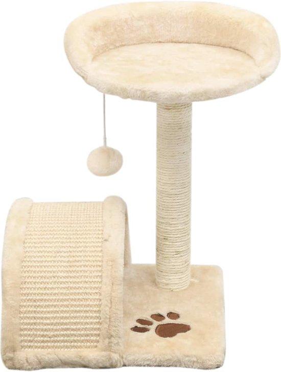 vidaXL Kattenkrabpaal met sisal krabpaal 40 cm beige en bruin