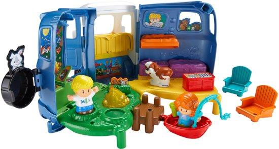 Fisher-Price Little People Liedjes en Geluiden Camper - Speelfigurenset
