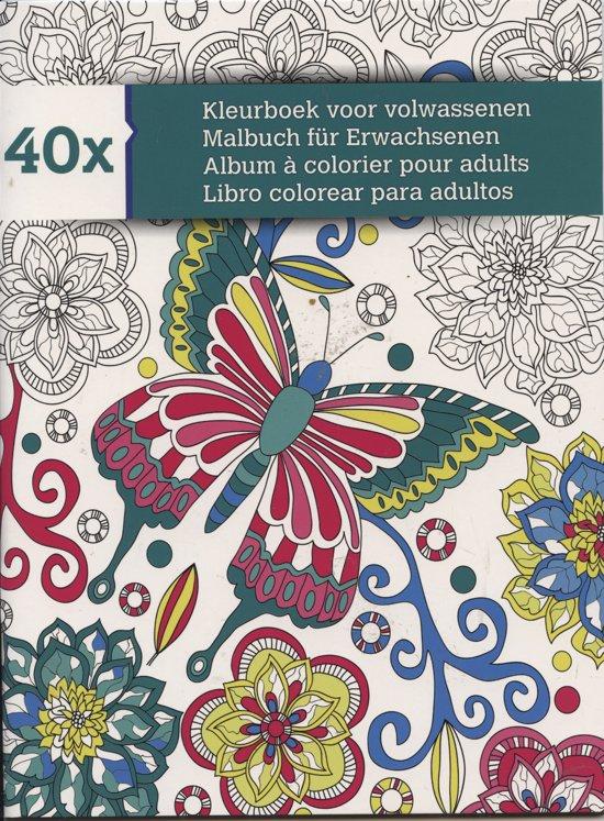 Kleurplaten Voor Volwassenen Harma Van Der Ros.Bol Com Kleurboek Voor Volwassenen 40 X Kleurplaten Merkloos