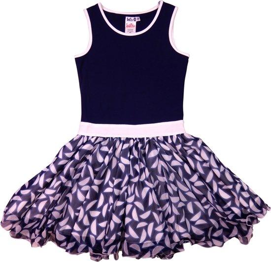 3e9a04f57fa09c LoFff Z8019-03 Jurk Dancing Dress - Blauw - Maat 146-152