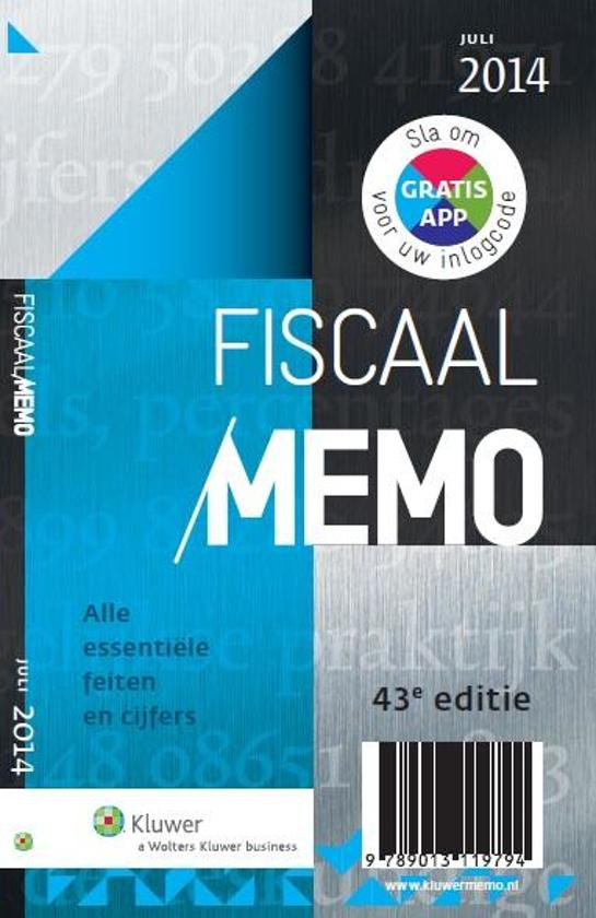 Fiscaal Memo / juli 2014