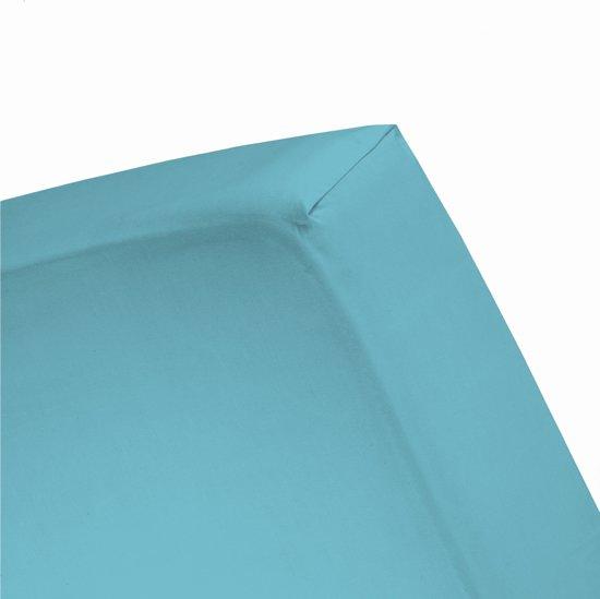 Damai - Hoeslaken (tot 25 cm) - Double Jersey - 80/90 x 200/210/220 - 100 x 200 cm - Turquoise