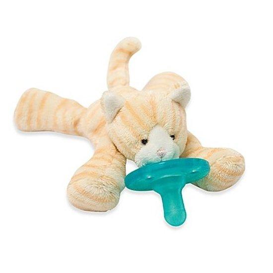 Wubbanub - Tijger - Speenknuffel / Knuffelspeen / Fopspeen met knuffel / De Wubbanub wordt geleverd in een verzegeld geschenkdoosje - Winnaar beste babyproduct in 2014