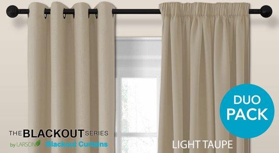 bol.com | Luxe blackout gordijn met haak – licht taupe 3x2.5m ...