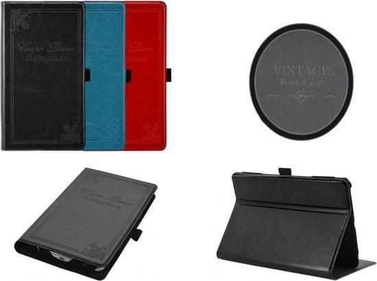 Vintage Carpe Diem Hoes Case Cover voor Pocketbook Surfpad 4 S, zeer stijlvol hoesje, rood , merk i12Cover in Erpion