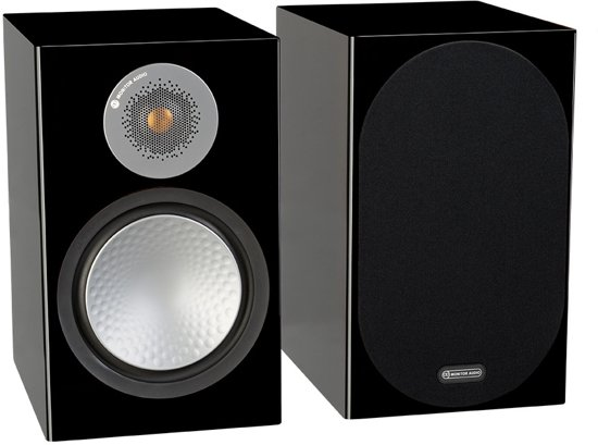 Monitor Audio Silver 100 - Boekenplank Speakers - Hoogglans Zwart