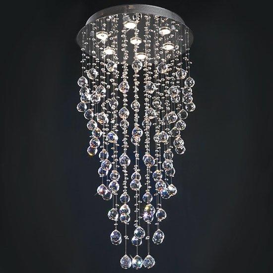 Beste bol.com | Kroonluchter, plafondlamp, hanglamp, lamp, glazen druppels IK-64