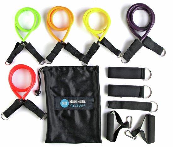 Men's Health Multifunctionele weerstandstubing Set   Weerstandsbanden   Fitness elastieken & resistance training bands
