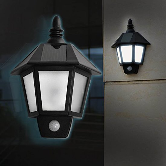 Klassieke Solar Tuinlamp Buitenverlichting | Verlichting Op Zonne Energie Met Bewegingssensor | Sierlijke Design Wandlamp | SensaHome Klassieke Wandlamp