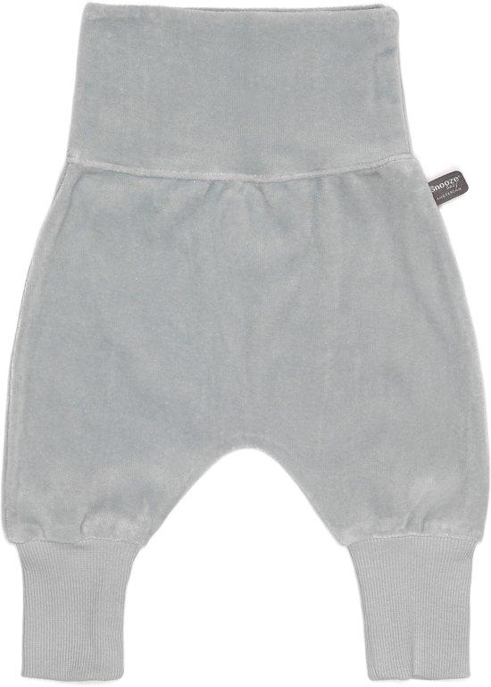 Snoozebaby Unisex Broek - grijs - Maat 50 - velours