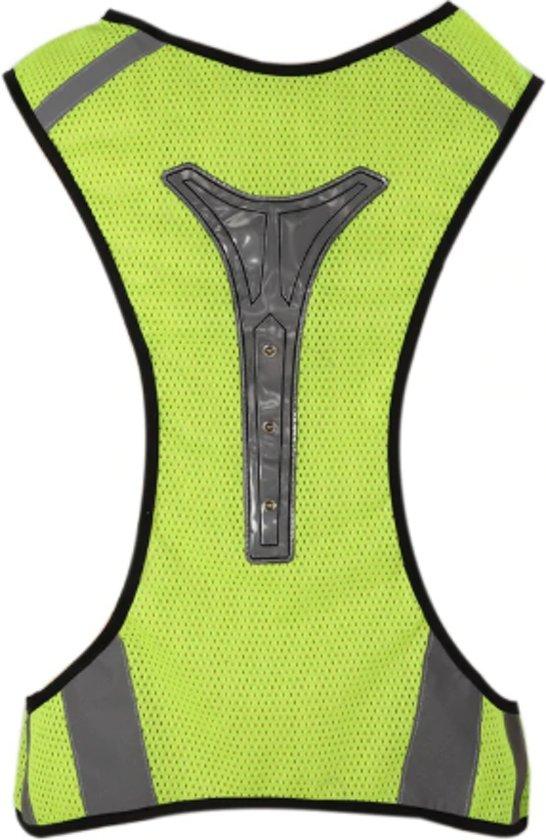 Hardloopvest | Veiligheidshesje| LED Reflecterende hesje | zichtbaarheid hesje | opvallen | sporten | hardlopen | running | Geel