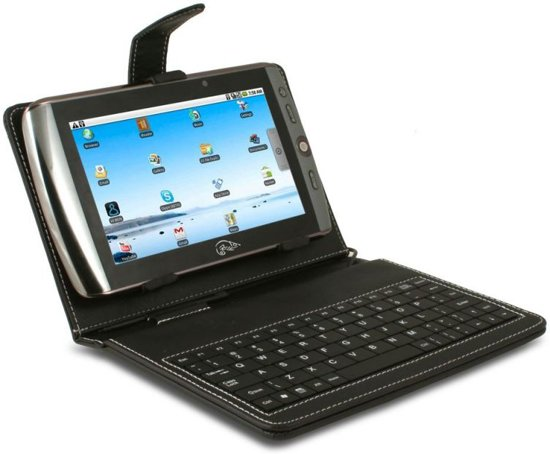 """Point of View, Bescherm hoes inclusief toetsenbord voor 7"""" Mobii Tablet (US Layout)"""