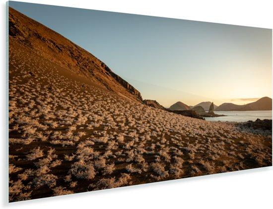 Eiland Bartolomé bij zonsondergang Galapagos eilanden Plexiglas 40x20 cm - Foto print op Glas (Plexiglas wanddecoratie)