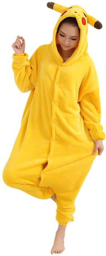 Afbeelding van Pikachu Pokemon Onesie Verkleedkleding - Volwassenen & Kinderen - L (168-175 cm)