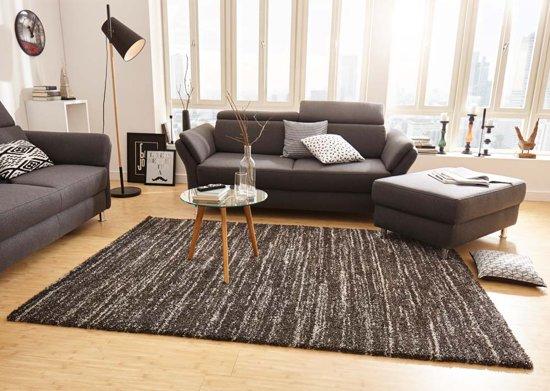 Modern vloerkleed gestreept Delight - donkergrijs 200x290 cm