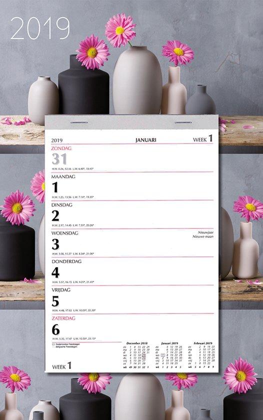 Week scheurkalender MGP 2019 - Scheurkalender - 1 week/1 pagina - Bloemen Gerbera - 21 x 34 cm