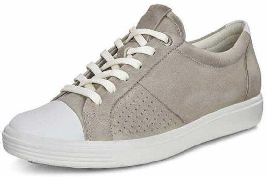 Ecco Soft 7 dames sneaker - Licht grijs - Maat 40