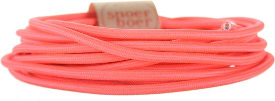 Snoerboer - Neon roze strijkijzersnoer - per meter aan 1 stuk