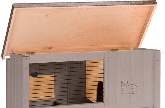 Ferplast Ranch 120 Basic Konijnenhok -  Grijs/Grijs - 117 x 67,5 x 95.5