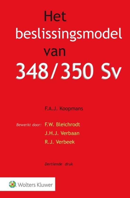 Boek cover Het beslissingsmodel van 348/350 Sv van F..J. Koopmans (Onbekend)
