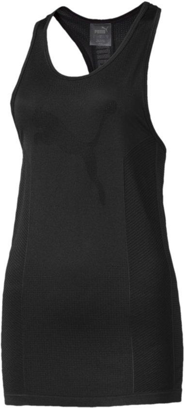 PUMA evoKNIT Seamless Tank Shirt Dames - Puma Black - Maat M