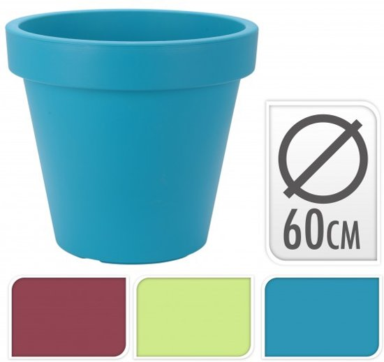 bol.com : Kunststof bloempot rond blauw 60cm